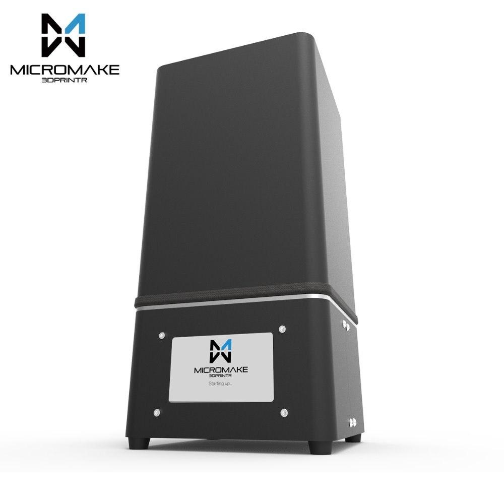 Micromake 2017 L2 УФ смолы 3D-принтеры SLA/dlp 3D-принтеры с сенсорным экраном ЖК-дисплей светло-отверждения высокая точность