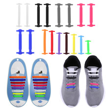 8 Pairs/Set Silicone Shoelaces Children Elastic Multifunctional Shoe String Solid Color Running No Tie Shoelaces for Kids Adults(China)