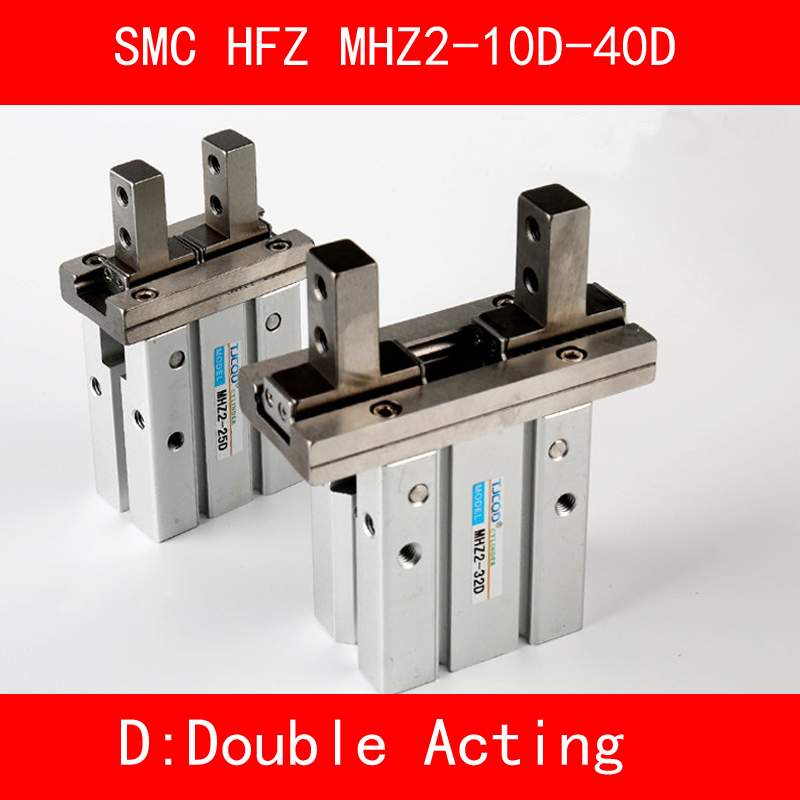HFY MHY2 10D 16D 20D 25D Double Acting Pneumatic Gripper SMC Y Type 180 Degree Angular Style Aluminium Clamps Bore 10-25mm цена 2017