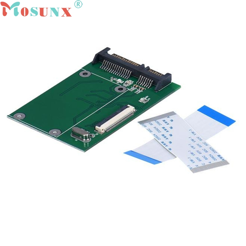 Mosunx Mecall 40 Pin ZIF/ CE 1.8 Inch SSD/HDD To SATA Male Adapter Converter Board