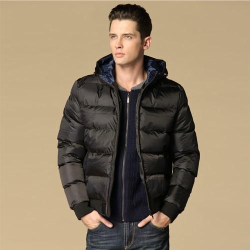 ФОТО 2016 Men's Down Coat Winter Hooded Jackets Coats Mens Warm Cotton Padded Parka Men Warm Jacket Solid Jaqueta Masculina 13M0285