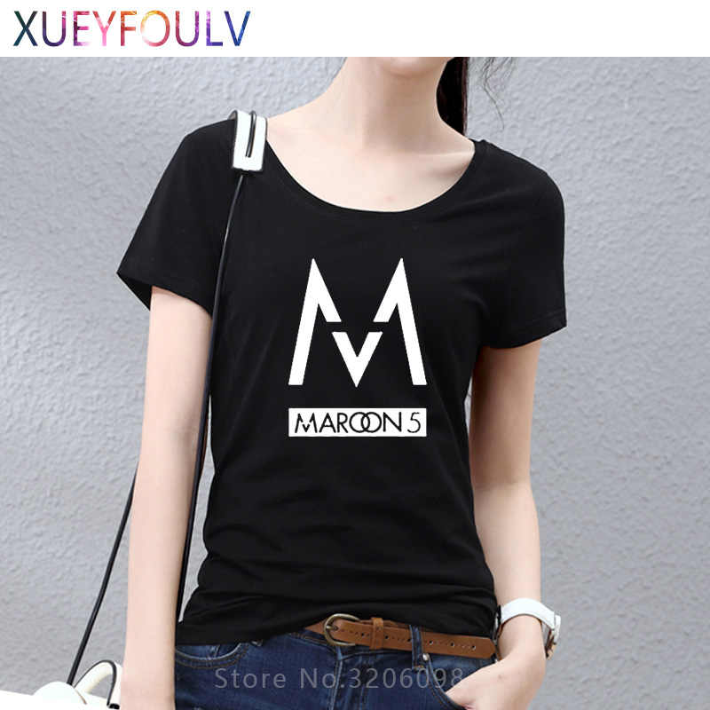 Free Shipping Women t shirts fashion 2018 band Maroons 5 men t shirt rock band short sleeve tshirt hip hop cotton tee shirts