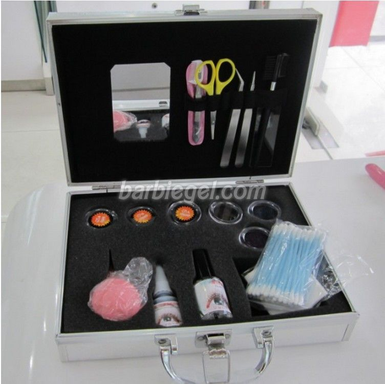 ФОТО New Brand Professional Fake False Eyelash Eye Lashes Extension Kit Set Make Up Cosmetic Tool with Silver Case