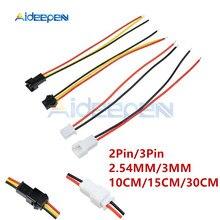 Connecteurs mâles/femelles pour bandes LED, 5 paires, 2/3/3 broches, 2.54/3/10/15/30CM