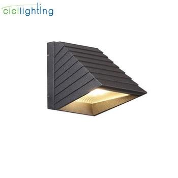Modern Waterproof outdoor LED wall lamp IP65 Aluminum Down Wall Light Garden porch Sconce Decoration Light 110V 220V 230V lamp