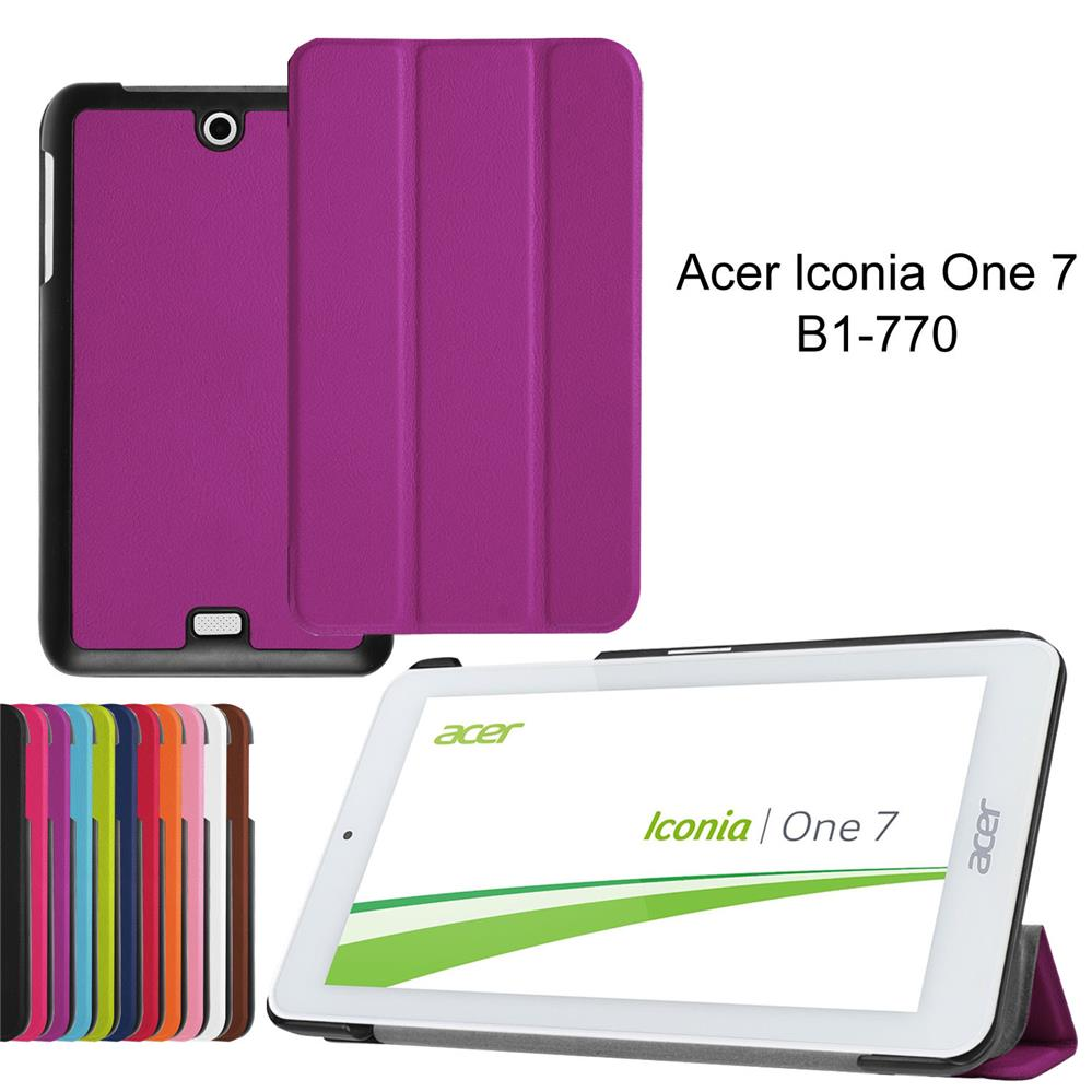"XSKEMP Ultra Slim Magnetic Cover Case For 7"" Inch Acer Iconia One 7 B1-770 Case Tablet Shell Real Smart Wake Up Gift Stylus Pen"