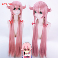 Free Shipping The Future Diary Yuno Gasai 100cm Long Pink Straight Anime Cosplay Wig Mirai Nikki