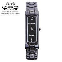 womens ceramic watches quartz luxury Square Female clocks casual waterproof wristWatches black white 2017 new brand reloj mujer