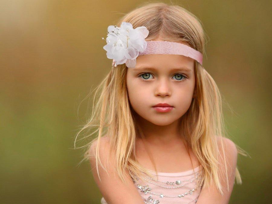 2016 Fashion Beautiful Children Flower Hair Band Baby Head Hoop Boutique Rhinestone Head Band