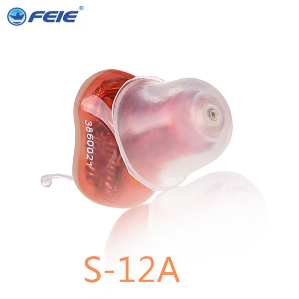 Adjustable Audiphone Hearing Aid Micro CIC Personal Amplifier Apparecchi Acustici Digitali S-12A 2017 New Hot Sale free Shipping