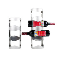 Stainless Steel M L Wine Racks Hold 3 Or 4 Botters Wall Mounted Storage Rack Kitchen
