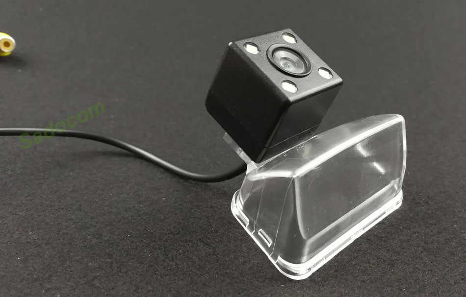 Caméra de recul de Vision nocturne de voiture CCD 4LED étanche pour Peugeot 206 207 307 407 berline Toyota Camry Verso 2012 Vios 2014