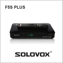 2PCS free shipping Original SOLOVOX F5S Plus 1080p Full HD Satellite Receiver DVB Support USB Youpron CCCAM/MGCAM/NEWCAM Web TV