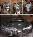 Biker 316L Stainless steel Lion/ wolf / tiger charms Bracelet Cuff Open Bangle Charming Men's  Gifts