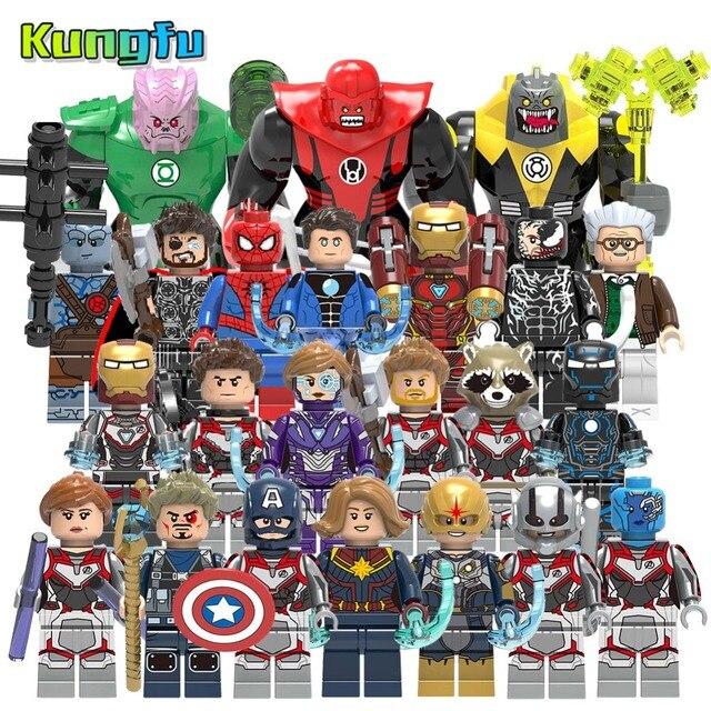 EndGame vingadores heróis Marvel Ironman Tijolos Quantum guerra figuras Blocos de Construção compatíveis com pequenos brinquedos Do Homem Aranha crianças