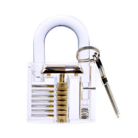 Transparent Smart Puzzle Lock Toy Children Educational Removable Practice Padlock Puzzle Toys For Locksmith Training Skill