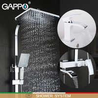GAPPO blanc robinets de baignoire robinet de baignoire robinets de bain robinet de bassin mitigeur de bassin robinets d'eau robinet baignoire système de douche