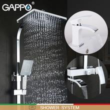 GAPPO 흰색 욕조 수도꼭지 욕조 수도꼭지 욕조 도청 분지의 수도꼭지 분지 믹서 물 도청 robinet baignoire 샤워 시스템