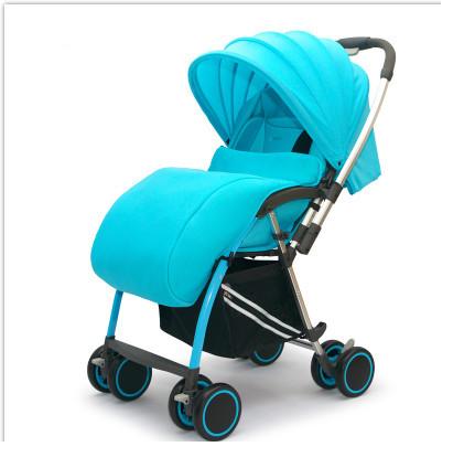 La nueva suspensión de cuatro ruedas cochecito de bebé ultra portátil plegable puede sentarse y acostarse cochecito de bebé de dos vías portable