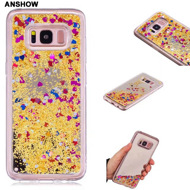 Persevering Bling Mirror Liquid Case For Galaxy S9 S8 S7 A8 2018 j5 J3 2017 Eu Soft Tpu Quicksand Cover Heart Love Star Glitter 60pcs