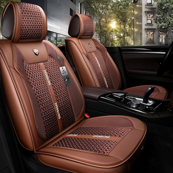 OUMANU 5Seats( Front+Rear)car-styling Car Seat Covers for Porsche Cayman Cayenne Macan Panamera Boxster car accessories