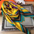 Brand New Women Twill Silk Scarf Horse Pattern Winter Scarf 140cm*140cm Kerchief High Qualith Printing Warm BY1722417