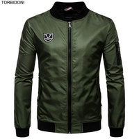 Mens Casual Bomber Jackets Embroidery Logo Plus Size 5XL New Spring Autumn Sportswear Jaqueta Masculino Male