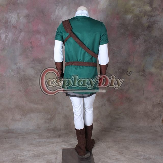 Online Shop Cosplaydiy The Legend of Zelda Link Dark Green Costume Adult Men Halloween Carnival Cosplay Costume Custom Made | Aliexpress Mobile : dark link halloween costume  - Germanpascual.Com