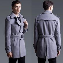 Черный серый 2017 весна случайный шерстяные пальто мужские кашемировые пальто casaco masculino inverno эркек мон sobretudo англии 6XL