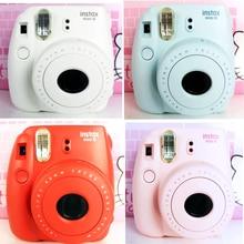 Ücretsiz nakliye hakiki fuji fujifilm instax mini 8 suite bir polaroid kamera zamanlayıcı lomo polaroid filmi kamera görüntüleme