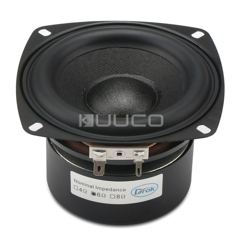 DIY Loudspeaker Hi-Fi Audio Speaker 40W Antimagnetic Stereo Woofer Speaker 4-inch 6 ohms Subwoofer Speaker Bass Speaker 1pcs denmark vifa 3 5 inch woofer speaker weave pots speaker magnet