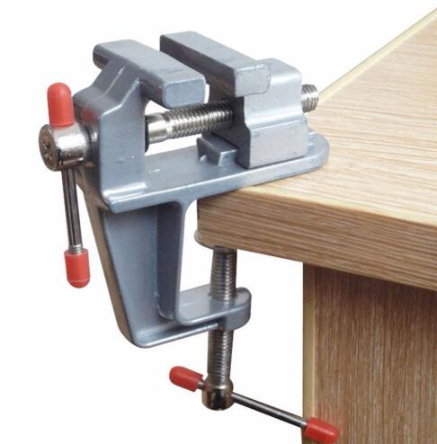 Mini Table Bench Vise Small Work Crafts Arts Detailing Workbench Jewelry Making Hobbies Finishing Modeling Round Objects Tool