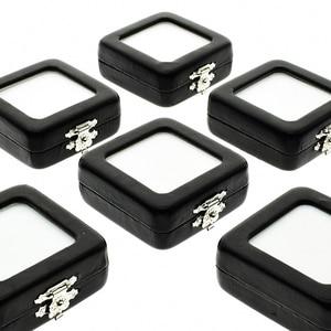 Image 4 - 5 sztuk/partia luźne diamentowe pudełko wystawowe PU skórzane etui klejnot kamień schowek czarny biały Pad wisiorek z koralików Gemstones organizer