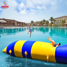 цены IHOME 6/8/10*2m Inflatable Water Jumping Catapult Blob PVC Inflatable Bouncers Pillow for Outdoor Fun Sports Personal Customized