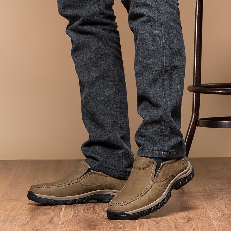 En Vache Kaki on Chaussures Taille Véritable Grande Conduite Cuir Brun Mocassins Homme Hommes De Mode 2018 Jeunes Brown khaki amp; Casual Slip Pour wqvx8ISa