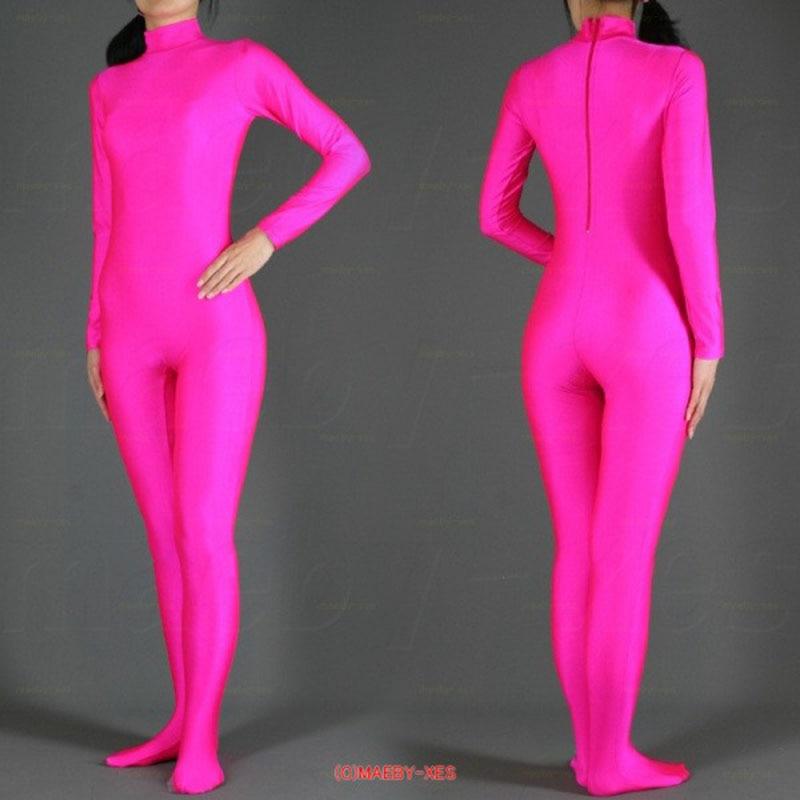 Costume de Zentai de corps complet de Lycra d'halloween Costumes Spandex 2nd combinaison de peau vêtement de danse pour unisexe couleurs de sexe personnalisées
