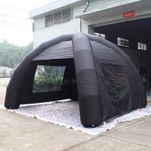 4*4 м черный надувной тент паук палатка с 2 прозрачными окнами игрушка палатка