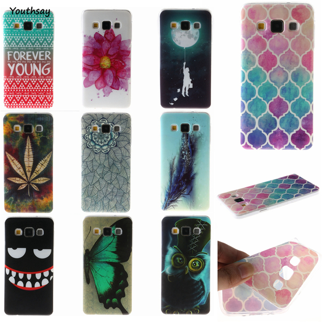 For Samsung Galaxy A5 Case Silicone A500H A500F IMD Painting Soft TPU Rubber Cover Thin Back Phone Cases For Samsung A5 2015