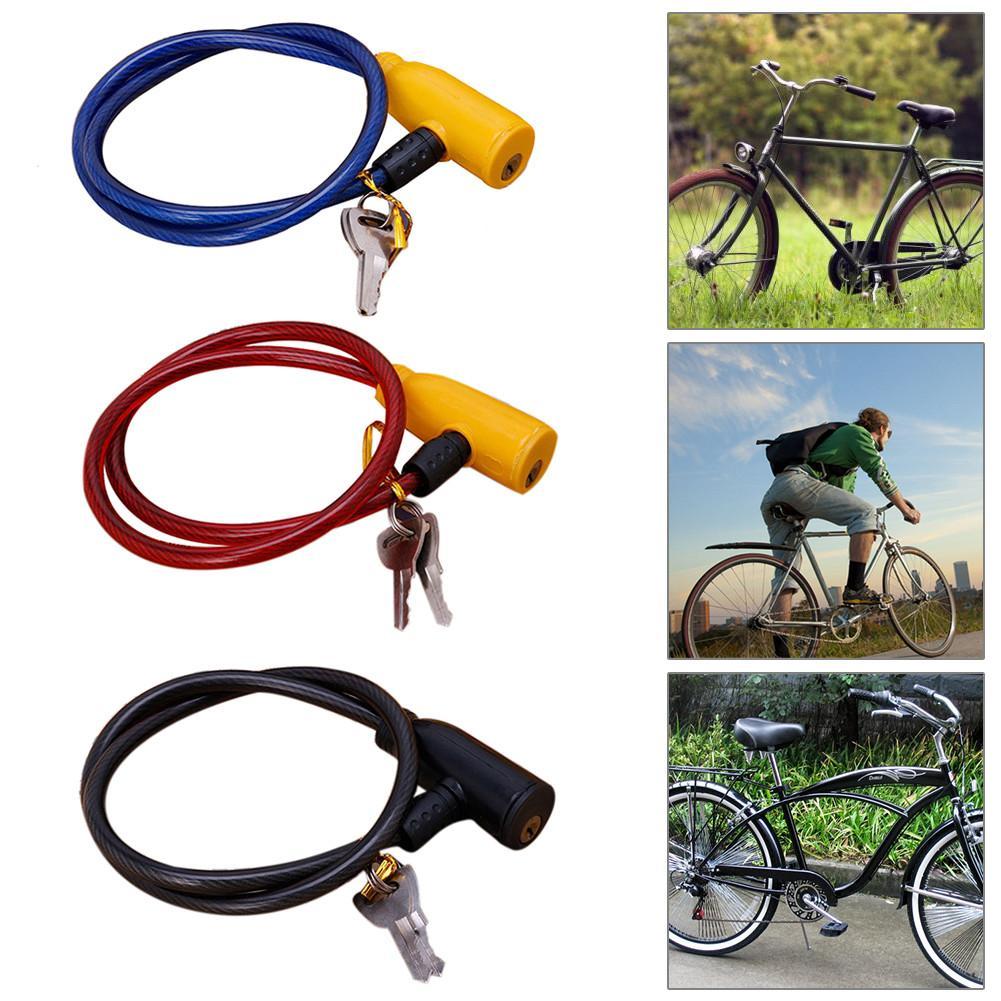 Candado de Bicicleta Bicicleta Cerradura Bloqueo de Cable de Alambre Cerradura de Seguridad Antirrobo con Un Soporte de Bloqueo para Bicicletas Scooters Motocicletas
