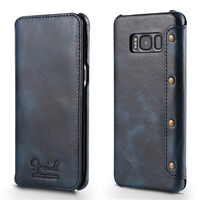 2017 Luxury Vintage Series Genuine Leather Case For Samsung Galaxy S8 Plus Pure Hand Made Leather