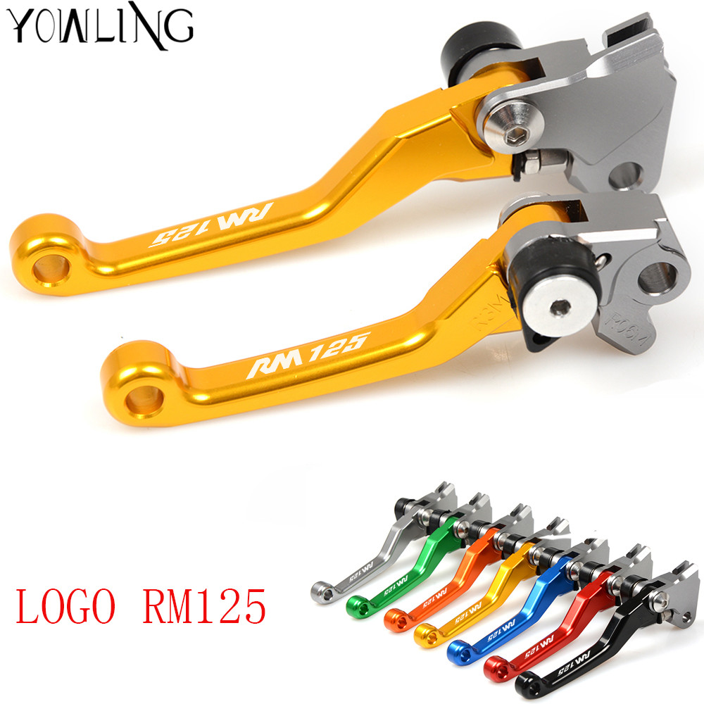 With LOGO CNC For suzuki RM 125 1996 1997 1998 1999 2000 2001 2002 2003 2004 2005-2008 Brake Clutch Levers Dirt bike Pivot Lever cnc 7 8 for honda cr80r 85r 1998 2007 motocross off road brake master cylinder clutch levers dirt pit bike 1999 2000 2001 2002