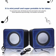 Portable USB 2.0 Multimedia Desktop Computer Notebook Mini Speaker Music Home Theater Party 3.5mm Jack