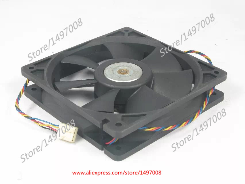 купить  Free Shipping For DELTA  AFB1212HH -5F49  DC 12V 0.50A 4-wire 4-pin connector 110mm 120x120x25mm Server Square fan  онлайн