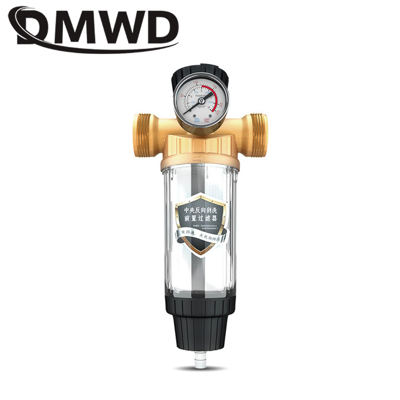 Direct Drinking Tap Front Purifier Copper Lead Pre-filter Backwash Remove Rust Percolator Stainless Steel Water Filter Meter