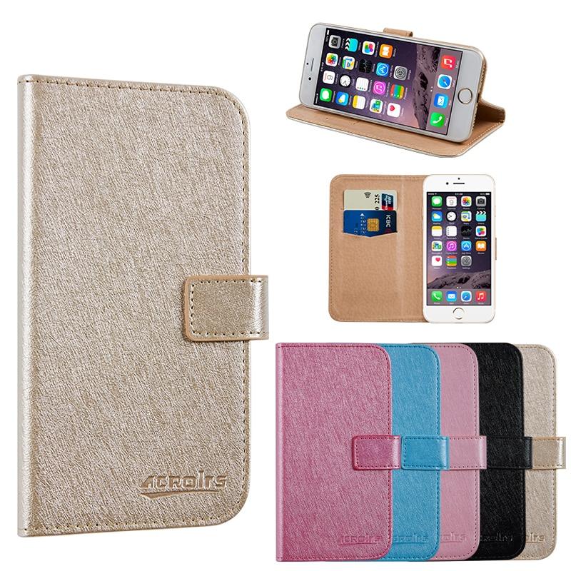 Untuk Prestigio Grace Q5 PSP5506DUO Sarung Telefon Perniagaan Dompet Kulit Berdiri Pelindung Pelindung dengan Slot Kad