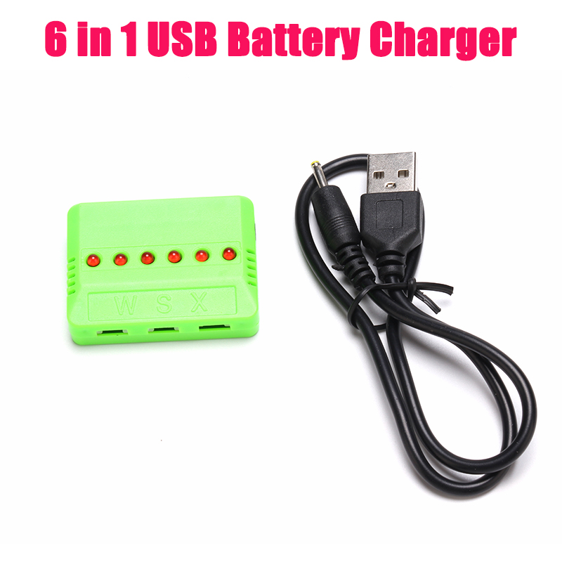 INKPOT 2019 Newest Drone 4 in 1 Battery Balance USB JST Charger With 1 to 5  Battery Multi-Charger Cable For JJRC H68 MJX X400 remote control charging helicopter
