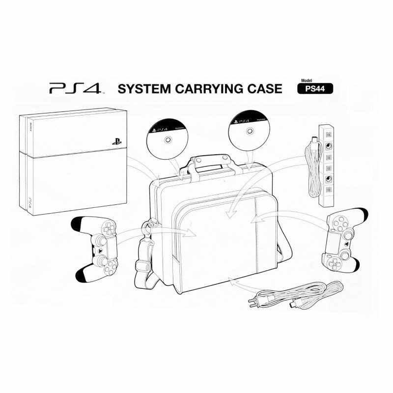 Спорт на открытом воздухе PS игровая консоль приемный рюкзак VR органайзер для хранения данных провод походная сумка через плечо