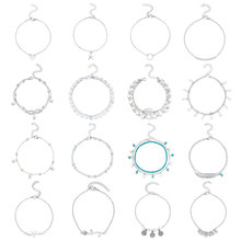 цена на 16 Pcs/ Set Silver Handmade Alloy Foot Chain Anklet Set Summer Beach Fashion Pearl Beaded Pendant Anklets for Women A010
