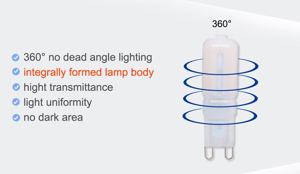 G9 LED Lamp 5W 7W 9W LED Light Bulb AC 220V 110V Chandelier (8)