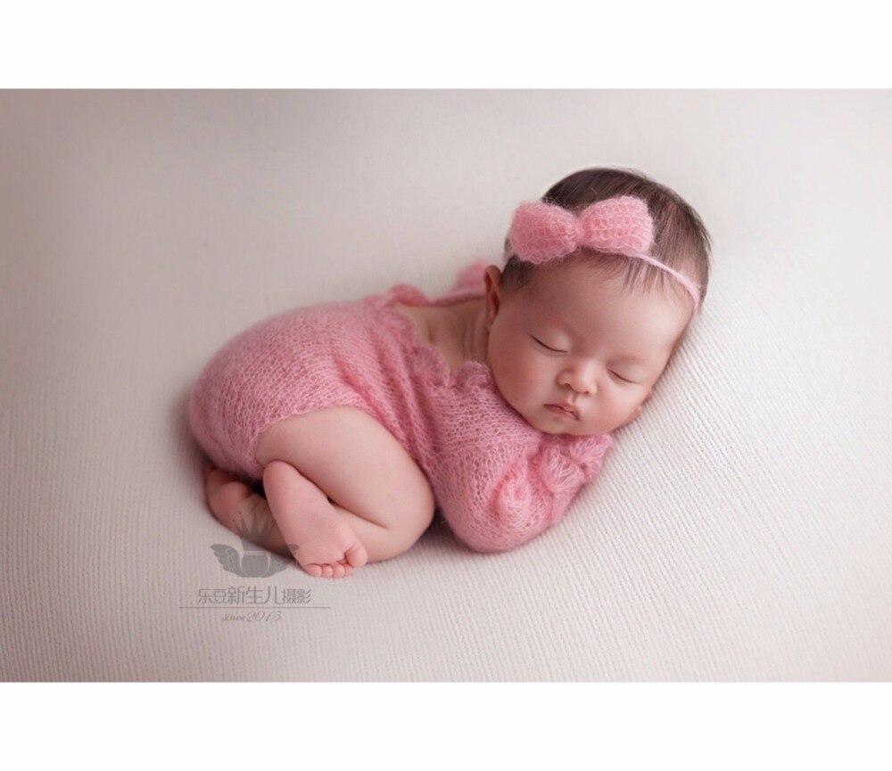 Вязаный кружевной комбинезон для новорожденных девочек с бантом бабочкой; Детские ползунки для девочек; Одежда для новорожденных; реквизит